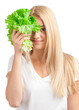Young woman with lettuce