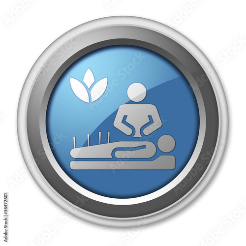 "3D Style Button ""Alternative Medicine"""