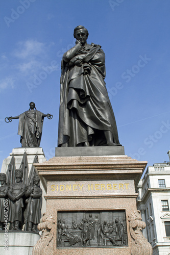 Statue of Lord Herbert of Lea at Waterloo Place