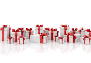 Gifts - row of presents