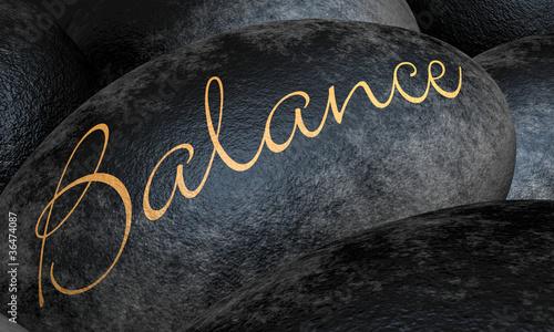 Schwarze Steine - Balance