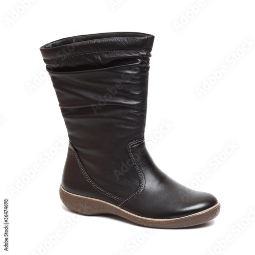 Female black boot isolated