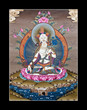 Inner part of ancient tibetan tangka White Tara on black