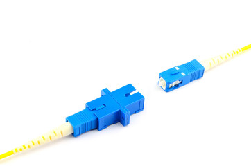 sc connector with adapter on white background