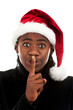 Junge mit Weihnachtsmütze, Stille