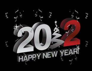 happy new year 2012 tree sign illustration