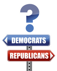 question Democrats and Republicans illustration design