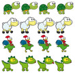 Animal Walking animations.  4 frames in loop x character