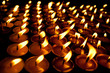 Candles at swayambhunath temple in Kathmandu, Nepal .