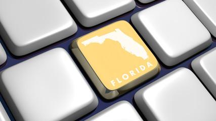 Keyboard (detail) with Florida map key