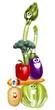 pila di verdure