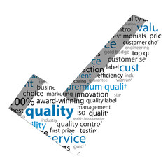 QUALITY Tag Cloud (3d tick reliability satisfaction guaranteed)