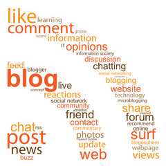 BLOG Tag Cloud (rss icon internet web social networking button)