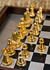 L'inizio di una partita di scacchi
