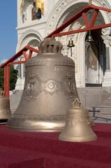 Колокола собора Николая Чудотворца перед освящением. Кронштадт