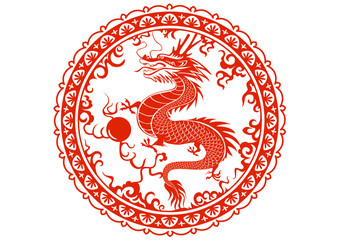 Dragon year 2012. Chinese zodiac symbol.