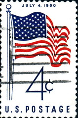 July 4, 1960. US Postage.