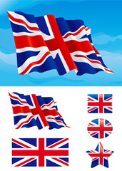 Vector Set of British flag