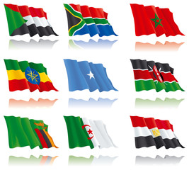 flags of the African nations  (set 2)