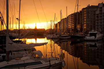 Sunset in Ostend