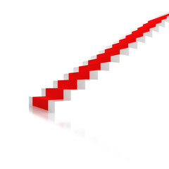 Stairs with a red carpet