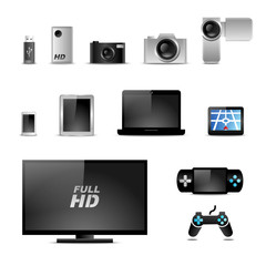 multimedia icon set v2