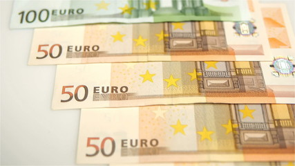 HD - Euro. camera flies over money_scene01