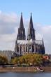 Kölner Dom am Rhein