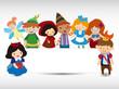 cartoon story people card - 36489077