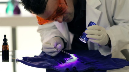 CSI Using UV Light for Trace Evidence