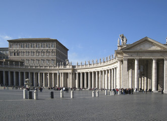 Colonnades at Saint Peters Square