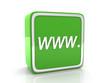 WWW. icon - 3d render