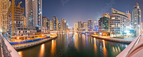 Dubai Marina from the Bridge Bigsizepanorama