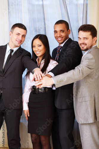 Portrait of a multi ethnic business team.