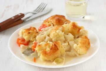 Cauliflower baked with sauce