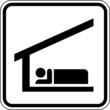 Schlafplatz Herberge Unterkunft Schild Zeichen Symbol