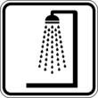 Dusche Badezimmer allgemein Schild Zeichen Symbol