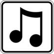 Musik Note Schild Zeichen Symbol Piktogramm Grafik