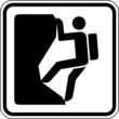 Klettern Bergsteigen Schild Zeichen Symbol Grafik