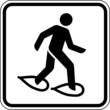 Schneeschuhe laufen Schild Zeichen Symbol Grafik