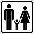 Mann Frau Kind Familienfreundlich Schild Zeichen Symbol