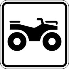 Quad ATV Geländefahrzeuge Schild Zeichen Symbol