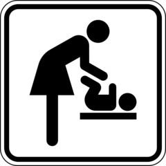 Wickelraum Baby wickeln Toilette WC Schild Zeichen Symbol