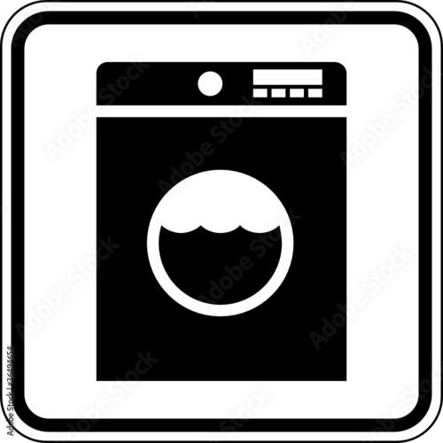 Waschmaschine Waschraum Schild Zeichen Symbol