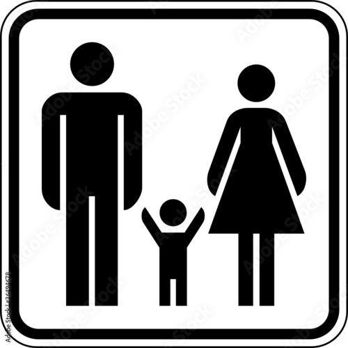 mann frau kind familienfreundlich schild zeichen symbol. Black Bedroom Furniture Sets. Home Design Ideas