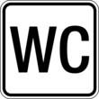 Text Waschraum WC Klo Toilette Schild Zeichen Symbol