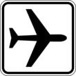 Flugzeug Flughafen Schild Zeichen Symbol