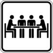 Restaurant Tisch Gespräch Meeting Schild Zeichen Symbol