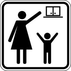 Außer Reichweite von Kindern aufbewahren Schild Zeichen