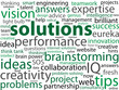 SOLUTIONS Tag Cloud (ideas answers service innovation expertise)